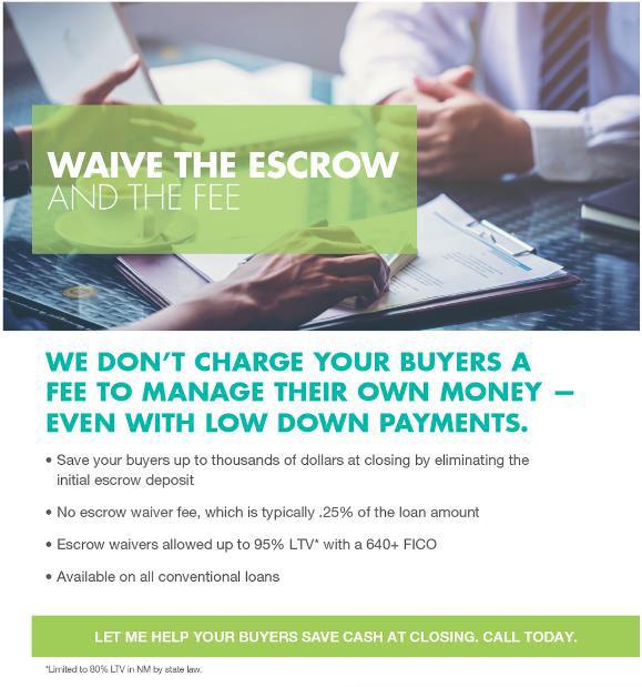 escrow waiver